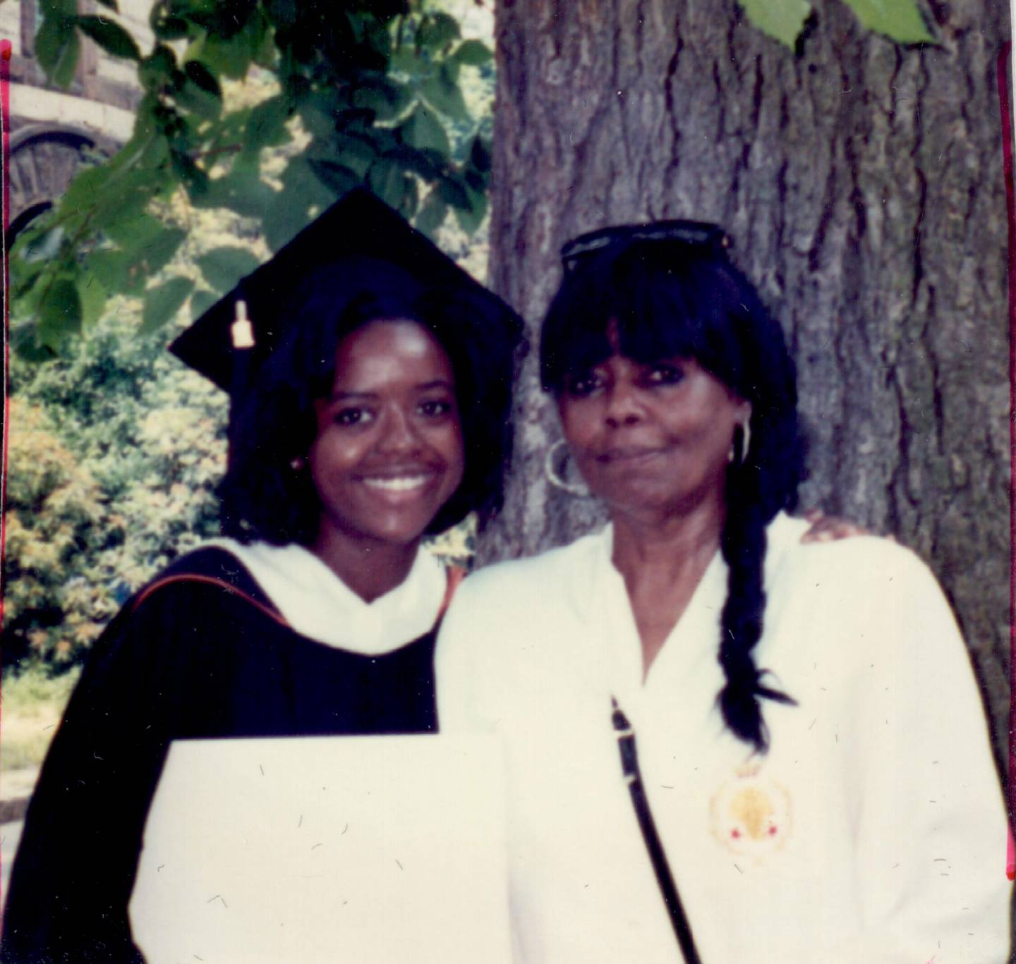 Hobson and her mother at Commencement