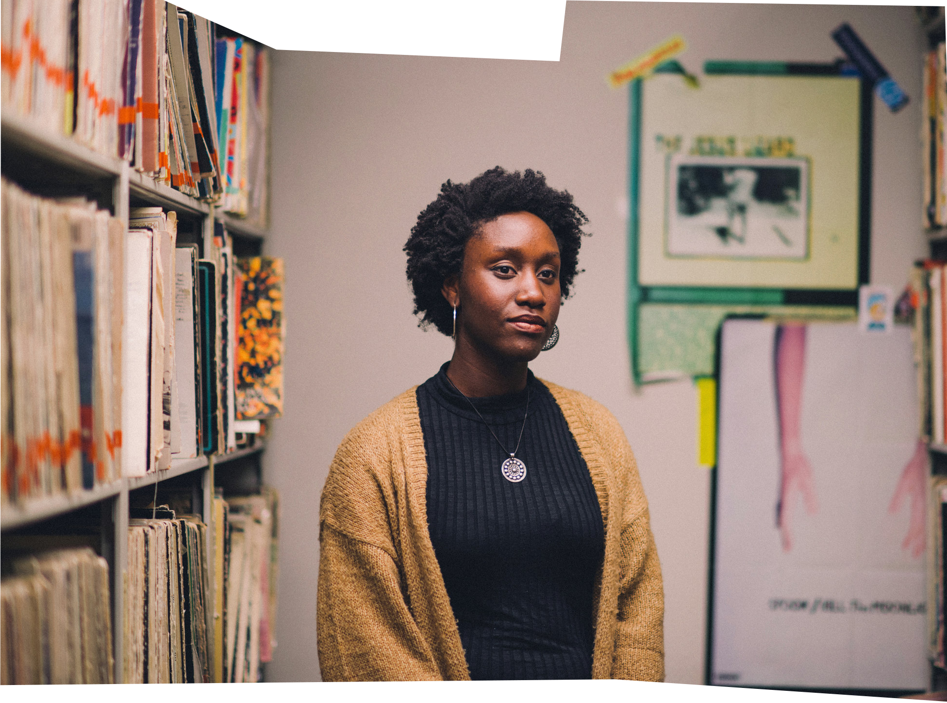 Amma Prempeh '19 posing during a show for WPRB, Princeton's radio station.