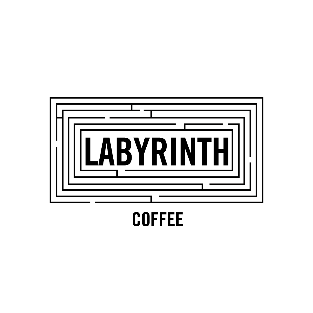 labyrinth coffee creative logo design