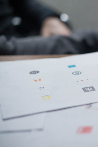 control advertising agency creating a creative logo design