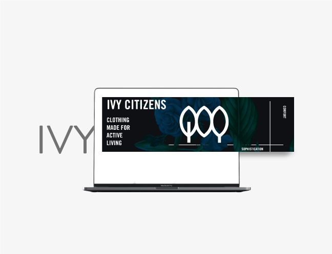 laptop banner ad designed for ivy citizens