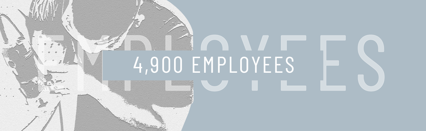 stat graphic stating spxflow has 4900 employees