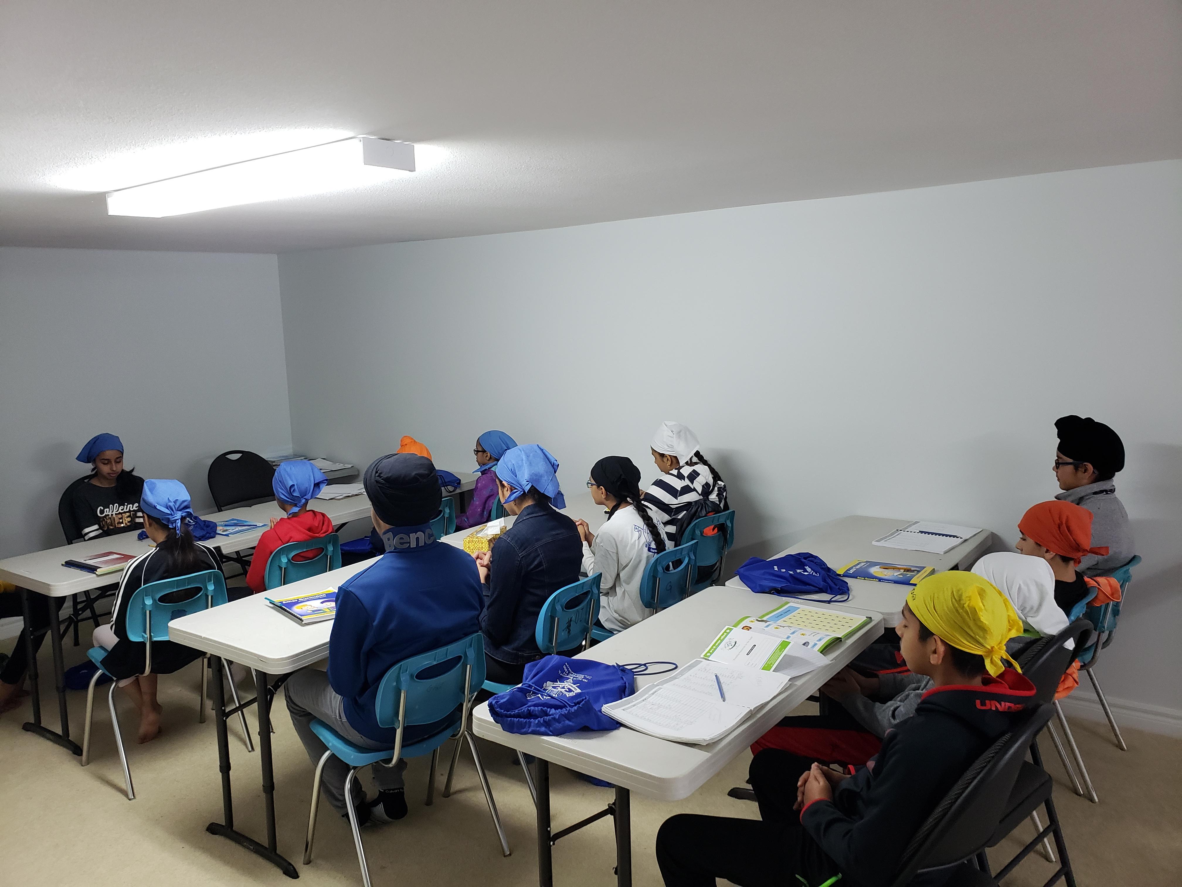 Group of students attending punjabi class