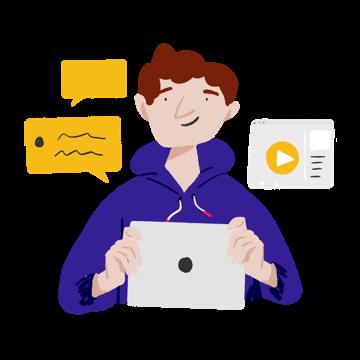 illustration of a tutor