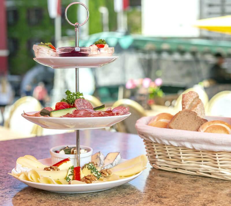 Frühstück, Café Wallner, St.Wolfgang