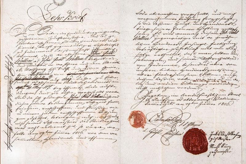 Urkunde, Kaffeehaus Wallner, St.Wolfgang