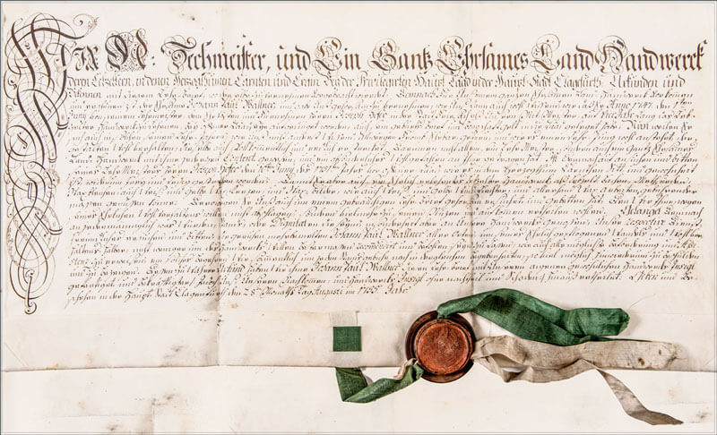 Urkunde, Lebzelterei Wallner, St.Wolfgang