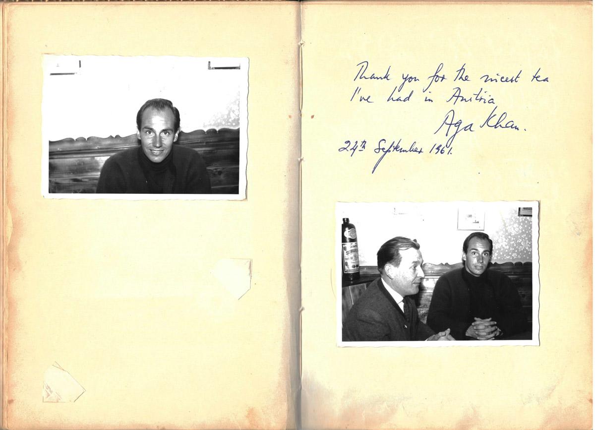 Gästebuch, Aga Khan, Konditorei Wallner, St.Wolfgang