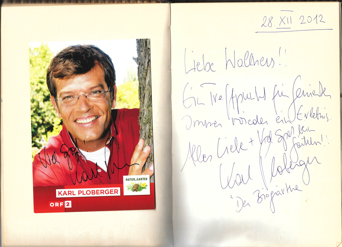 Gästebuch Karl Ploberger, Cafe Konditorei Wallner, St. Wolfgang