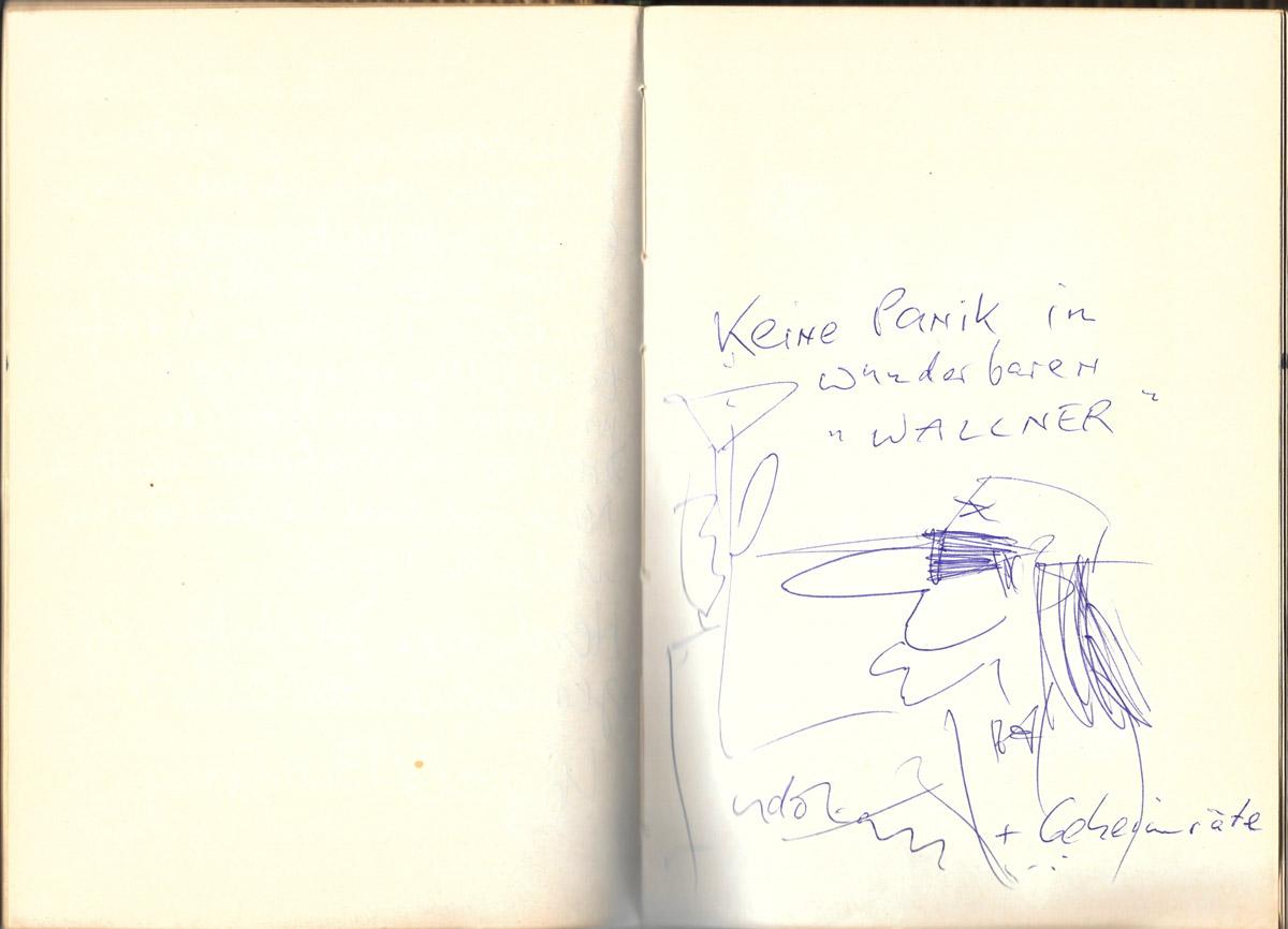 Gästebuch, Udo Lindenberg, Kaffeehaus St.Wolfgang, Wallner,