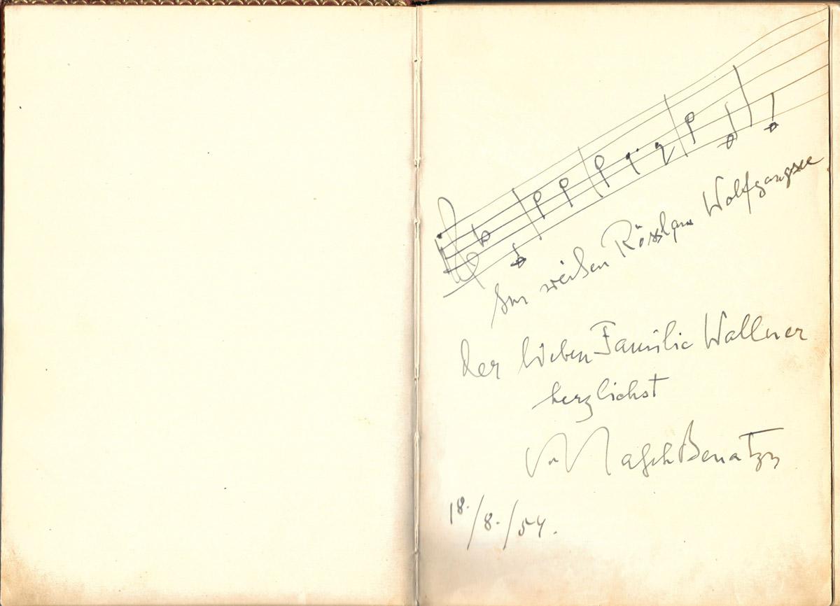 Gästebuch, Ralph Benatzky, Kaffehaus Wallner, St.Wolfgang