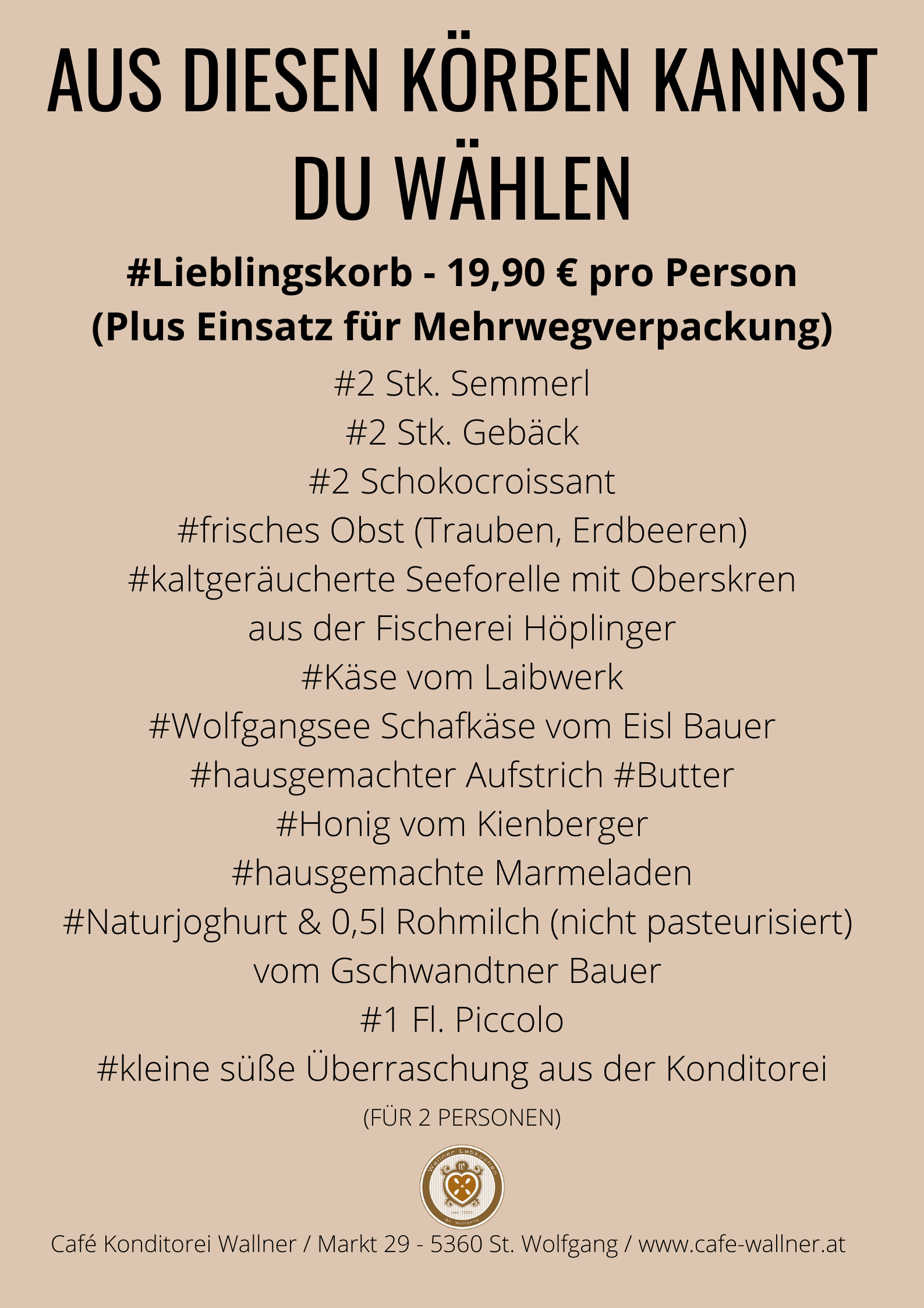 Ham & Eggs, Frühstück Café Wallner, St. Wolfgang