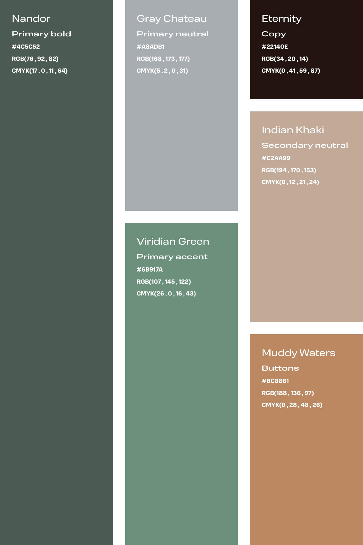Green and tan colour palette for small creative business DIY branding