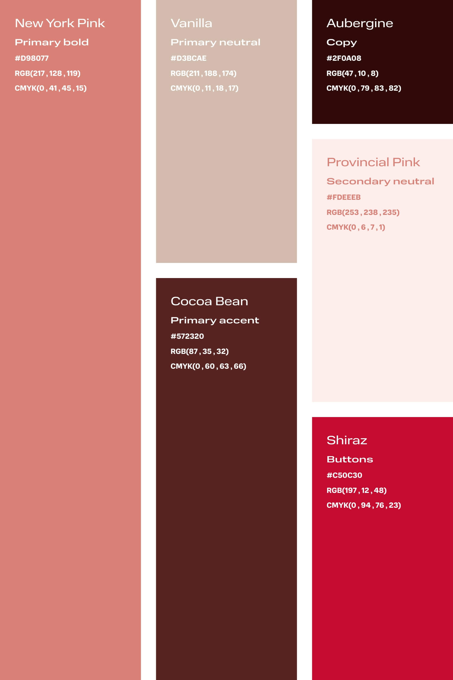 Pink and aubergine colour palette for small creative business DIY branding
