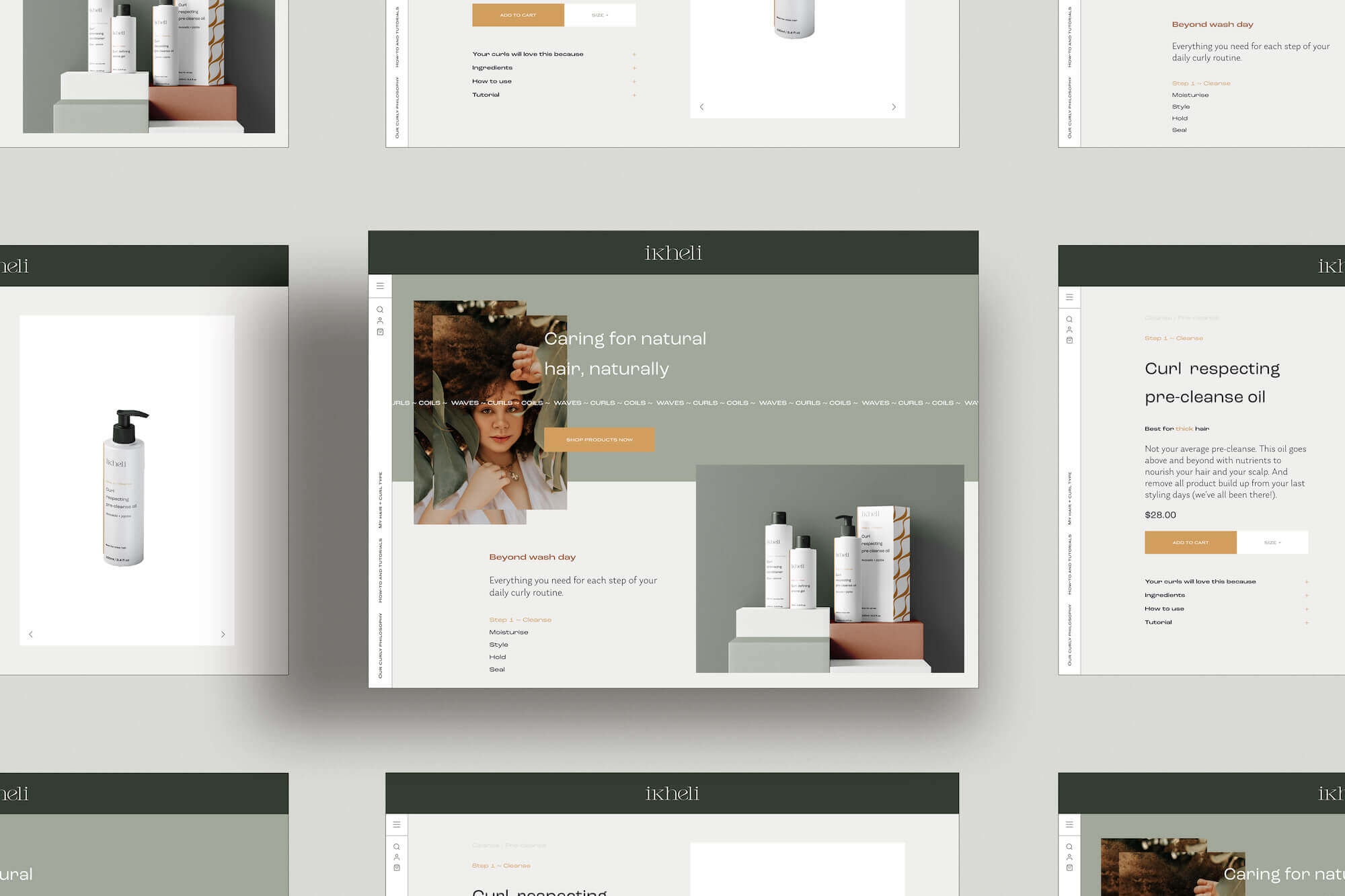 Website design use case for nature-inspired colour palette for small creative businesses