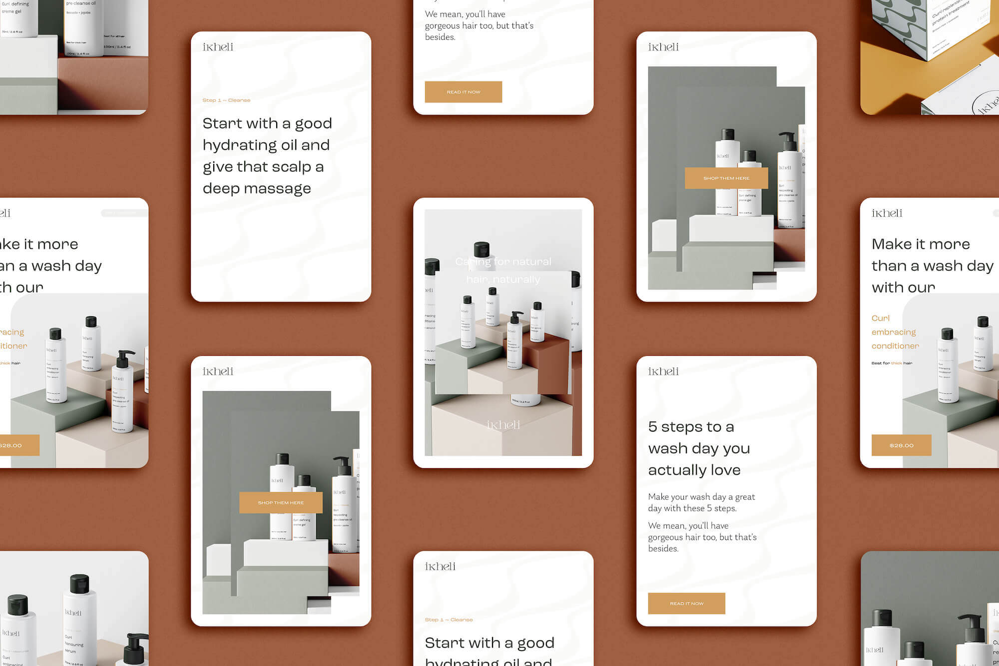 Pinterest templates use case for nature-inspired colour palette for small creative businesses