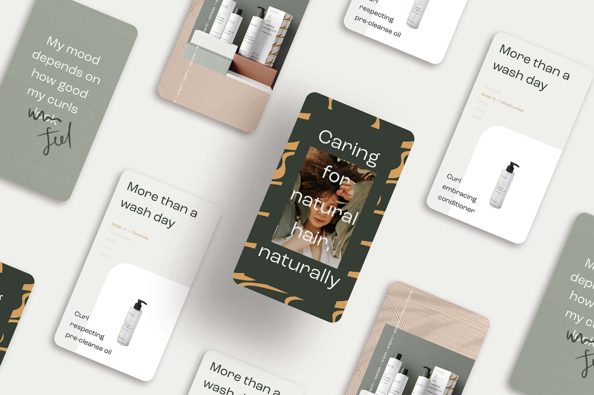 Instagram template use case for nature-inspired colour palette for small creative businesses
