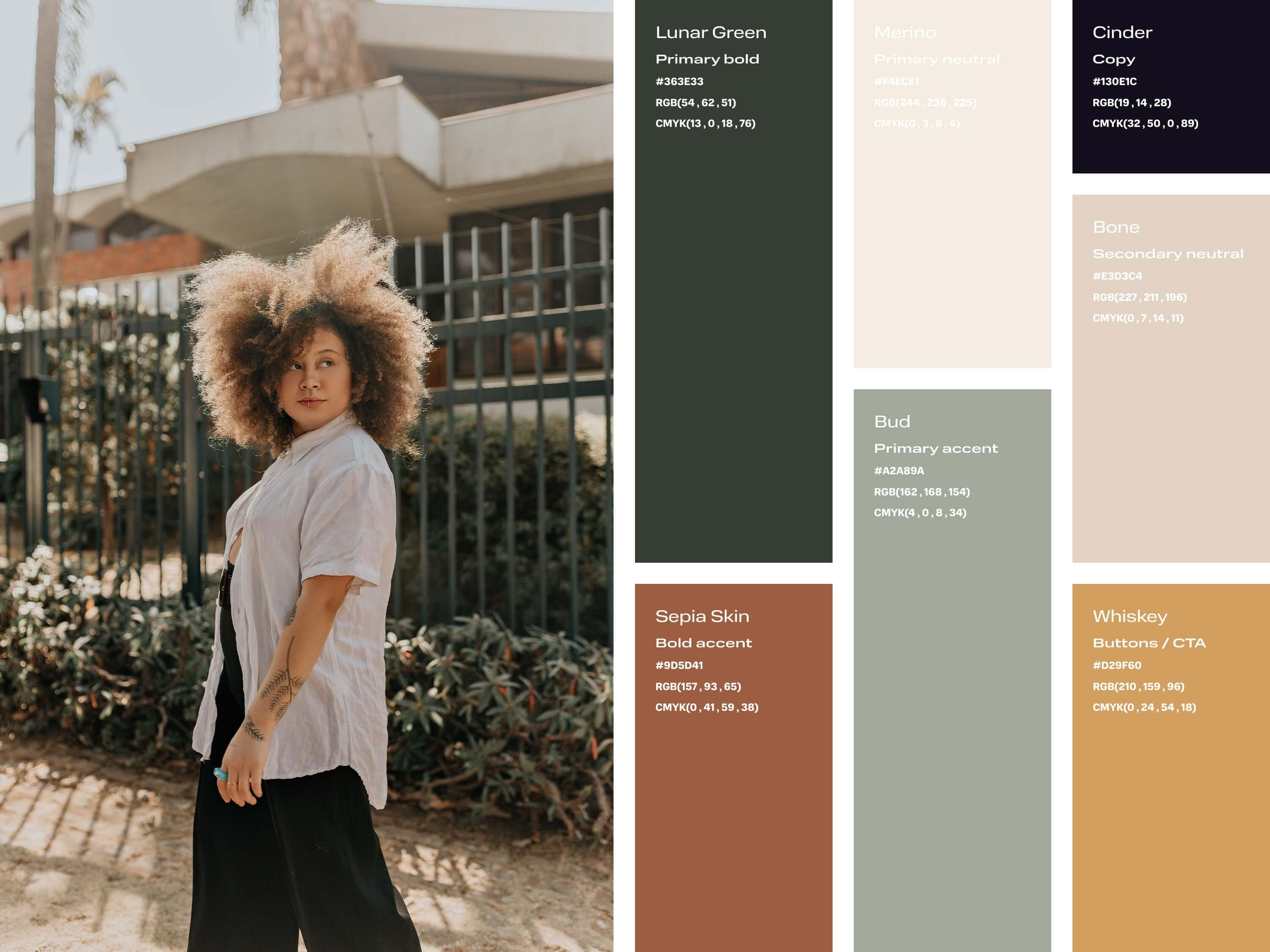 Reference image and nature-inspired colour palette
