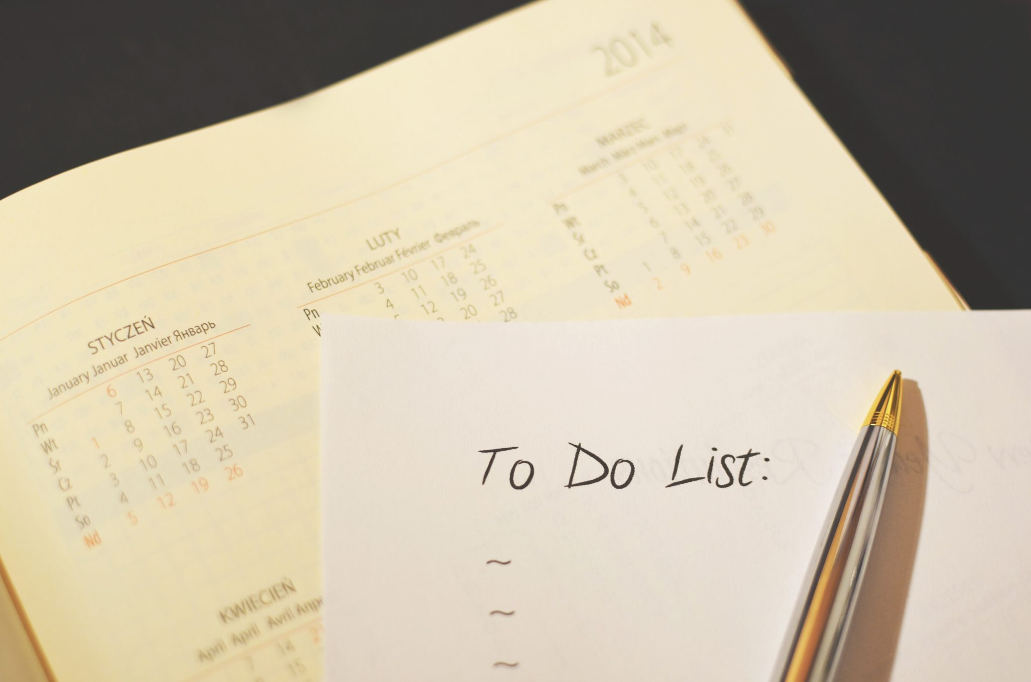 A simple to do list can be very helpful when it comes to simple projects and production.