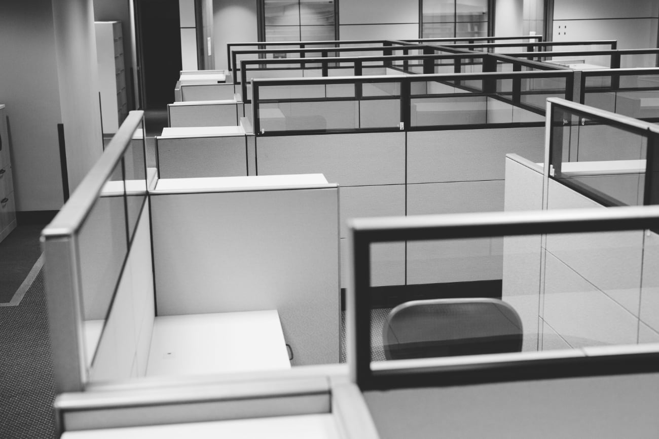 A photo of office cubicles in Atlantic Place in Downtown St. John's, NL