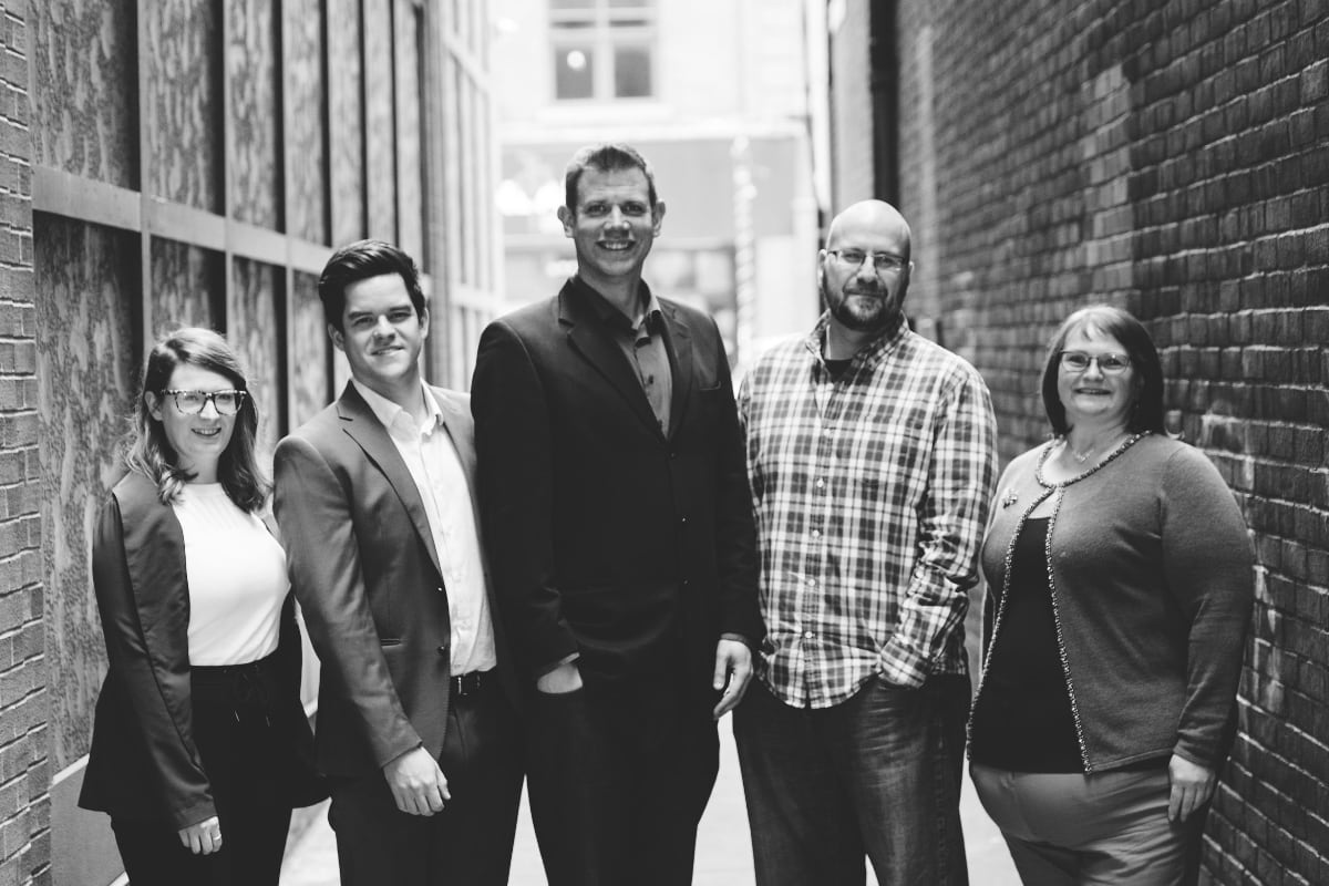 Team photo of Martek's Accounting Team in Downtown St. John's
