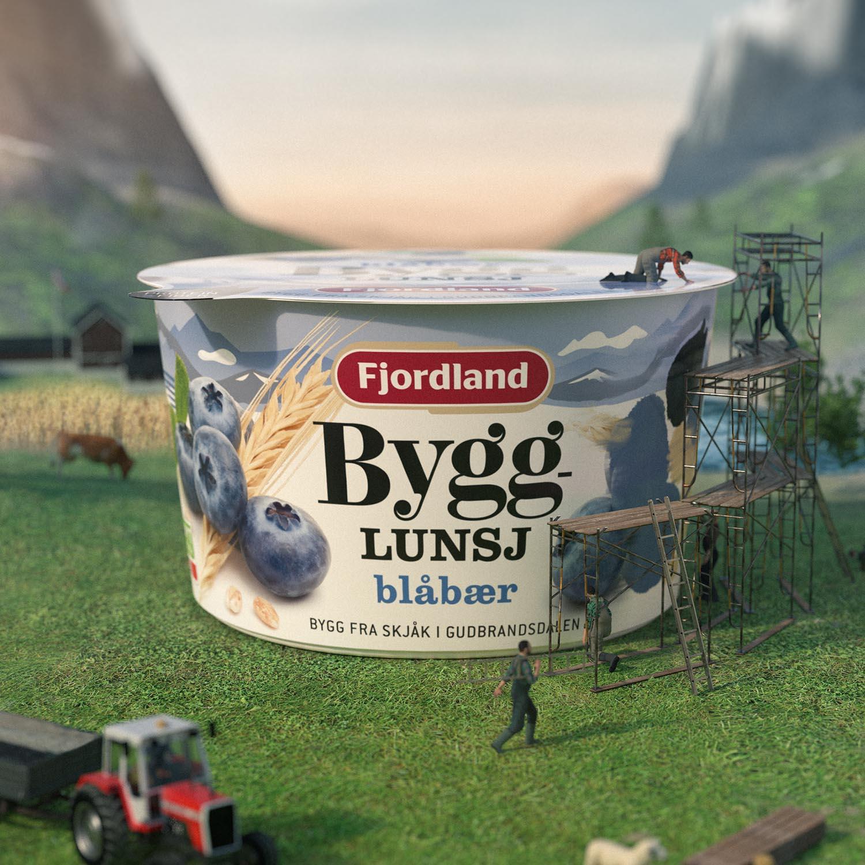 Fjordland grøtlunsj 3D-animasjoner