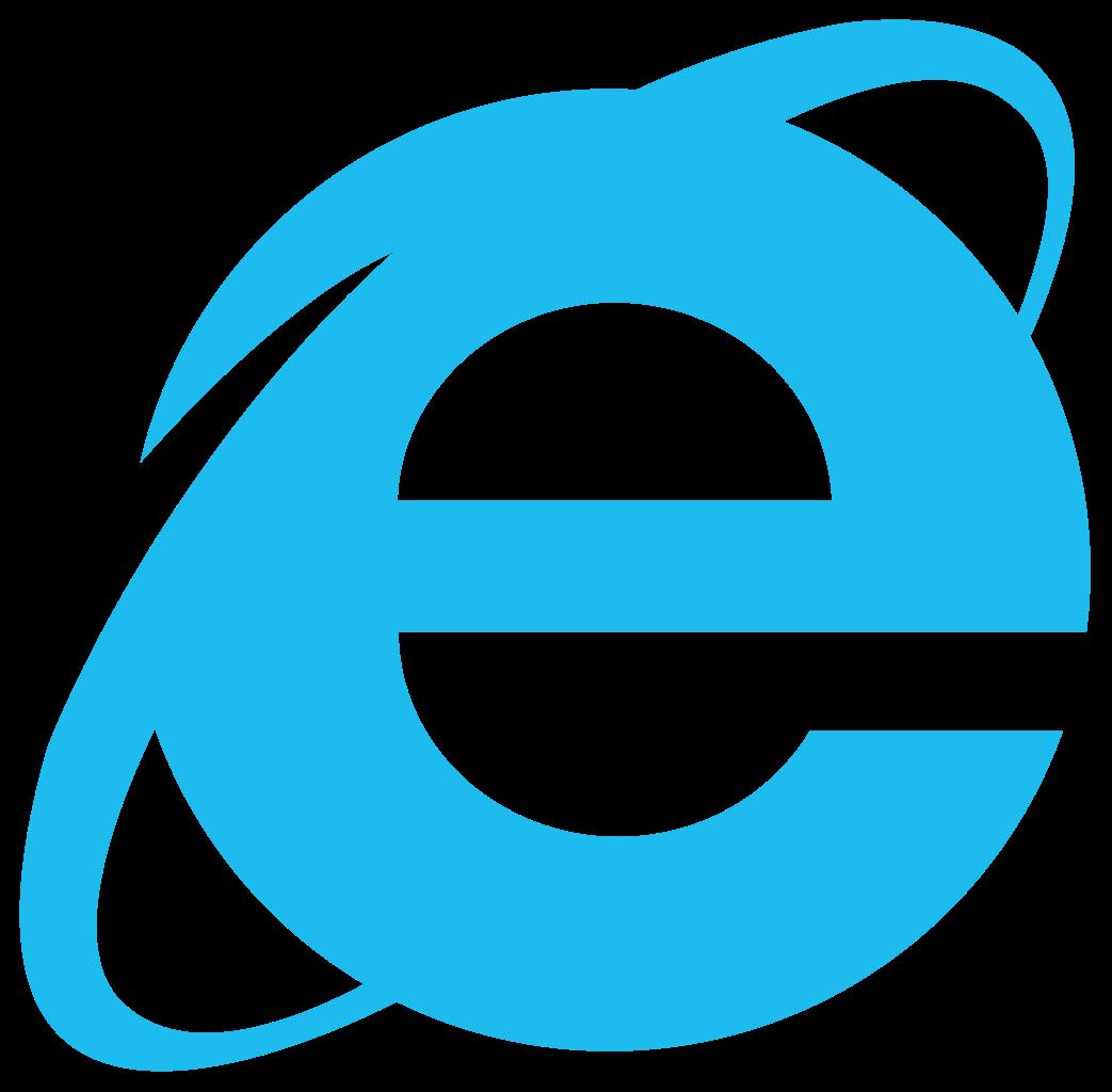 Internet Explorer browser logo.
