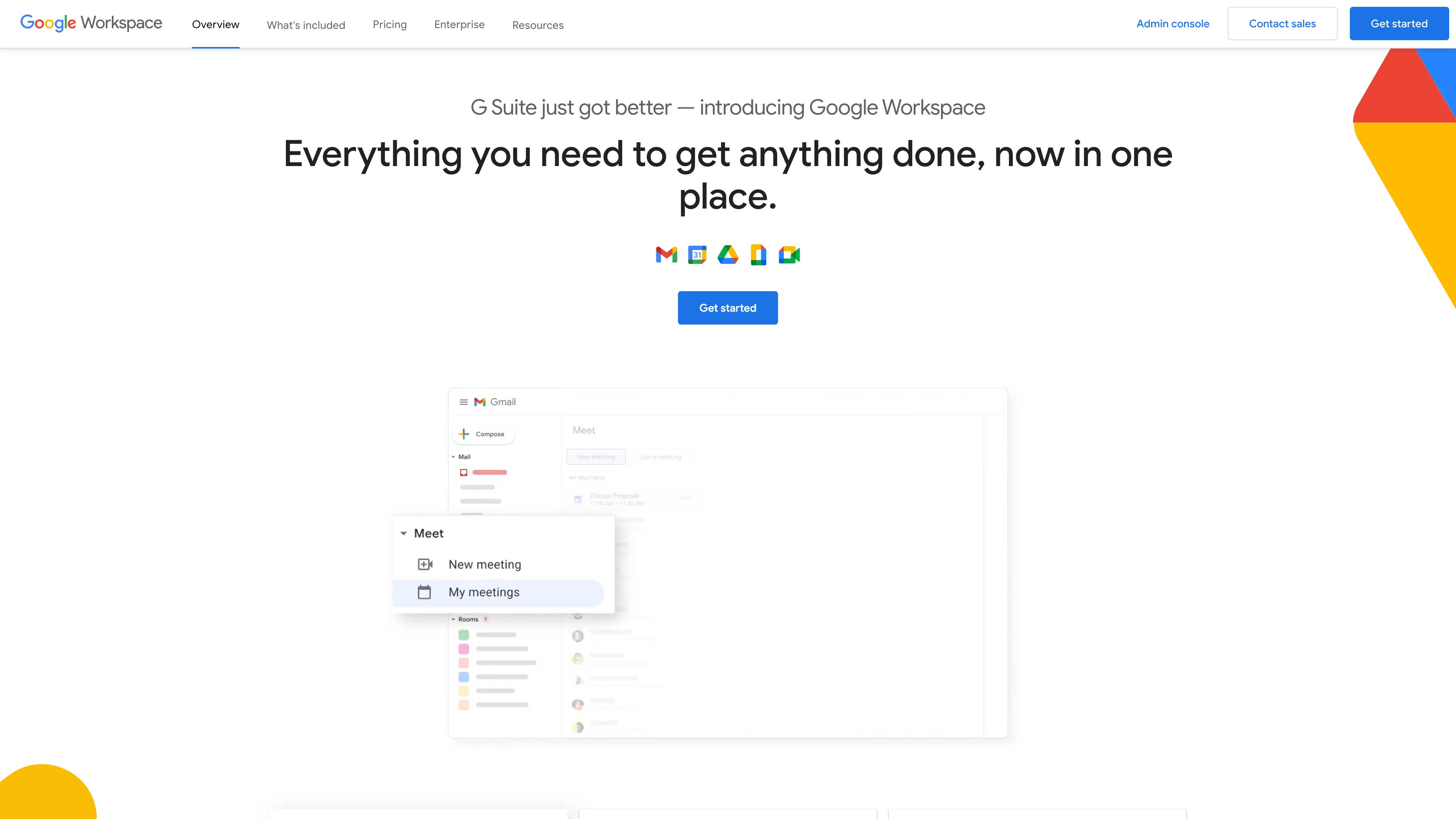 Google Workspace website.