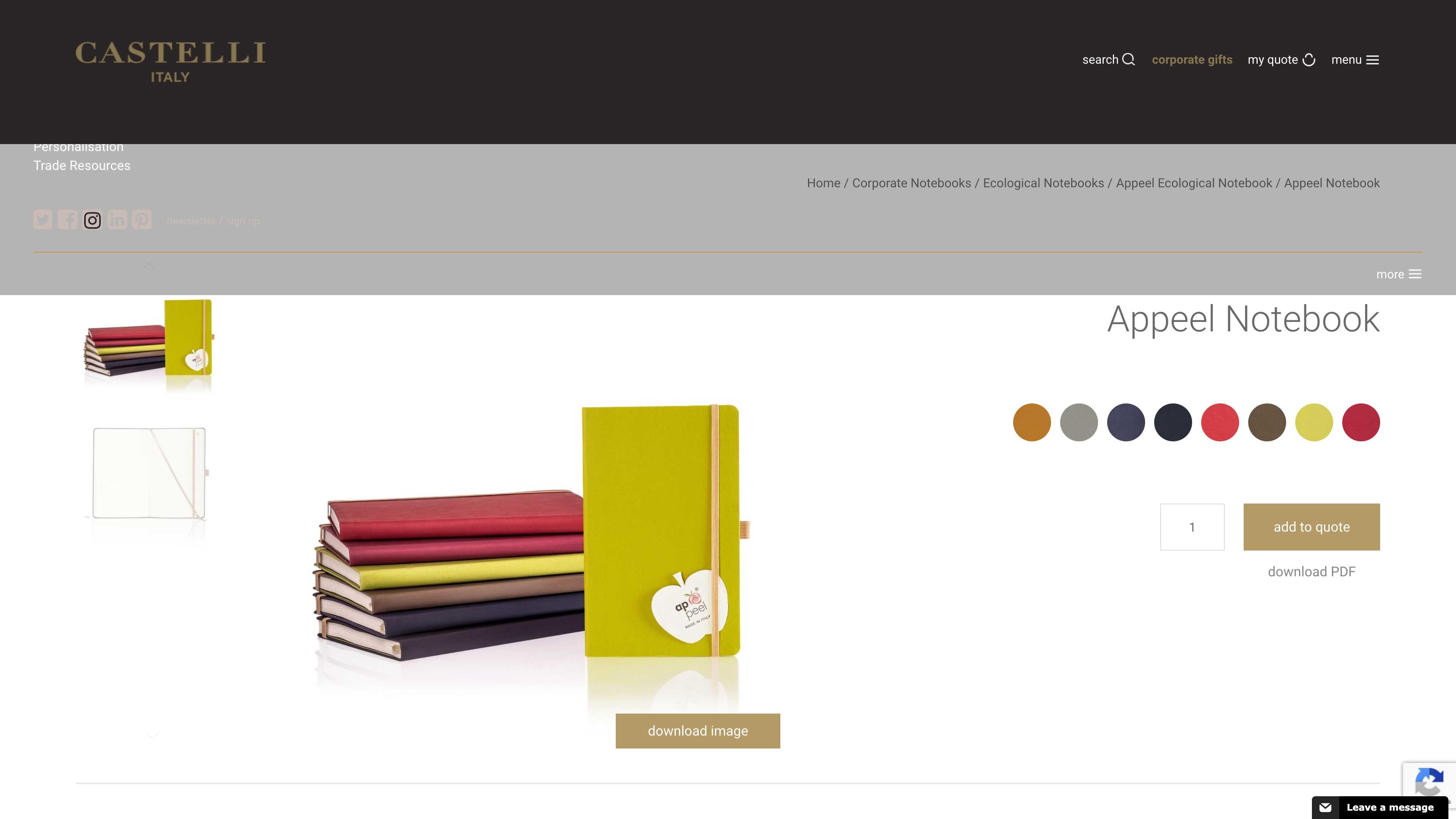 Appeel notebook website.