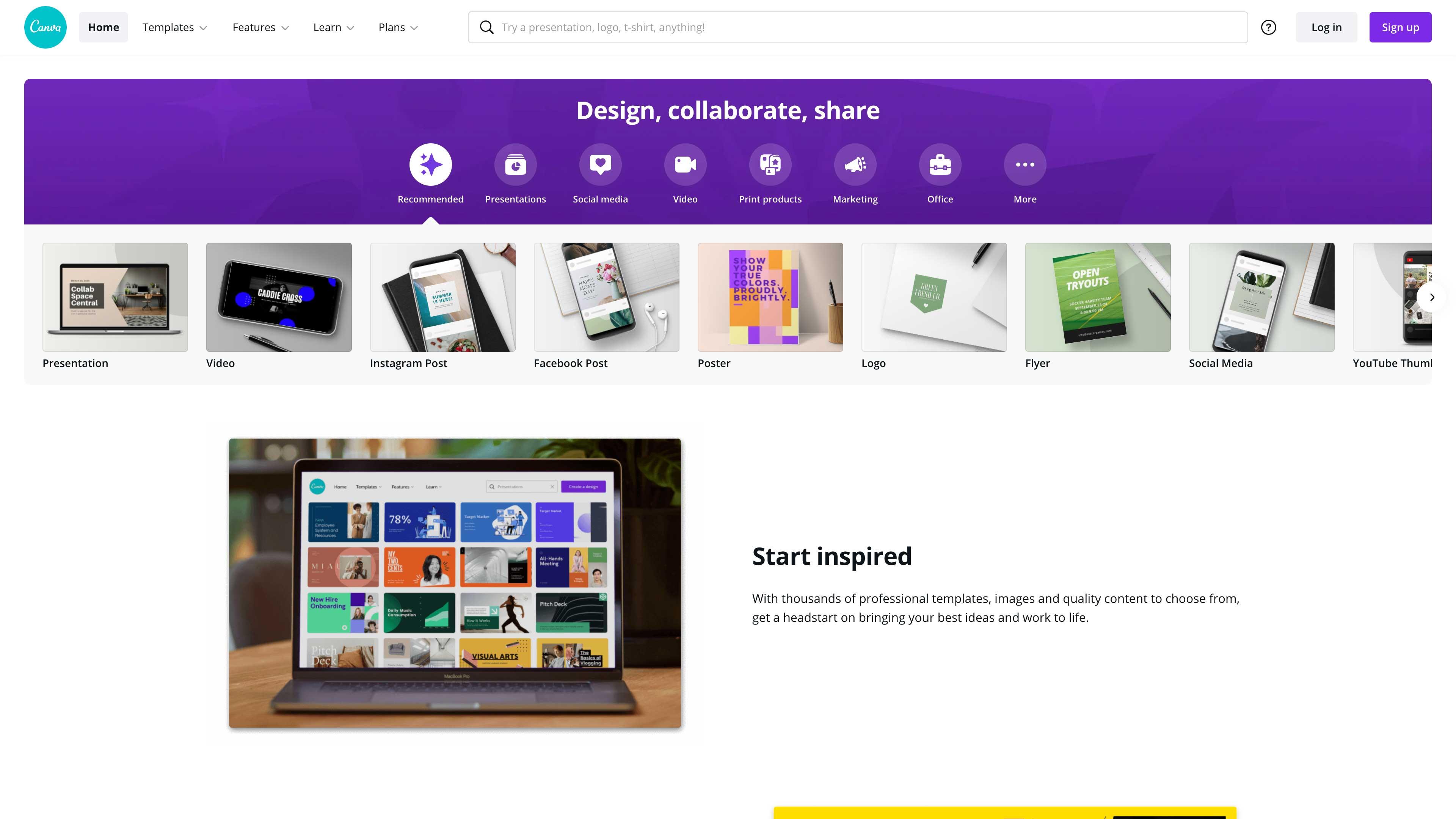 Canva website.