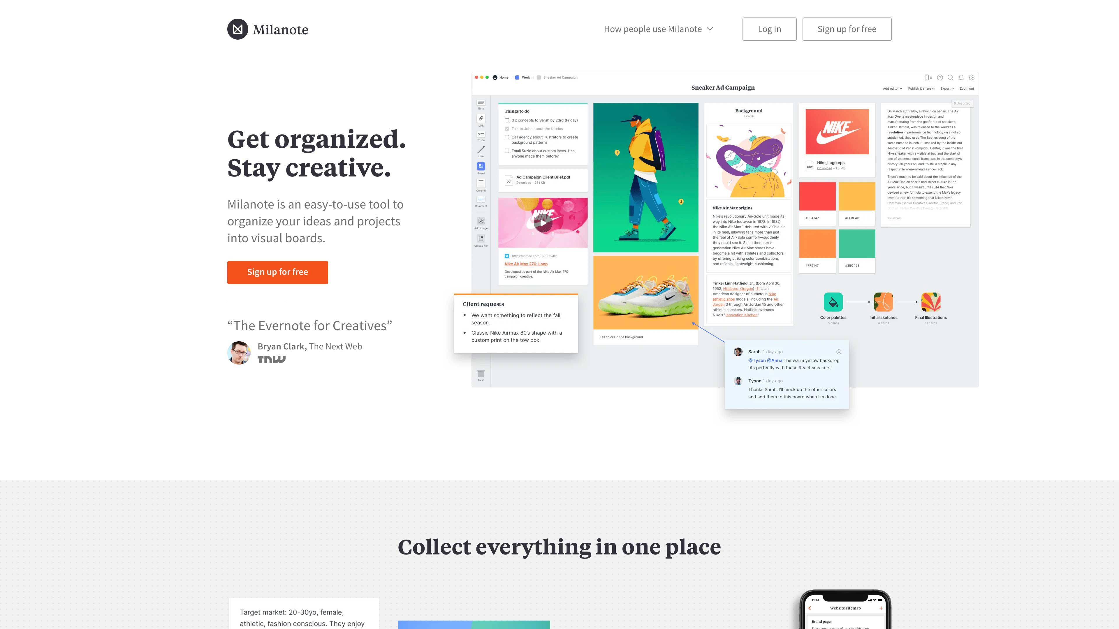 Milanote website.