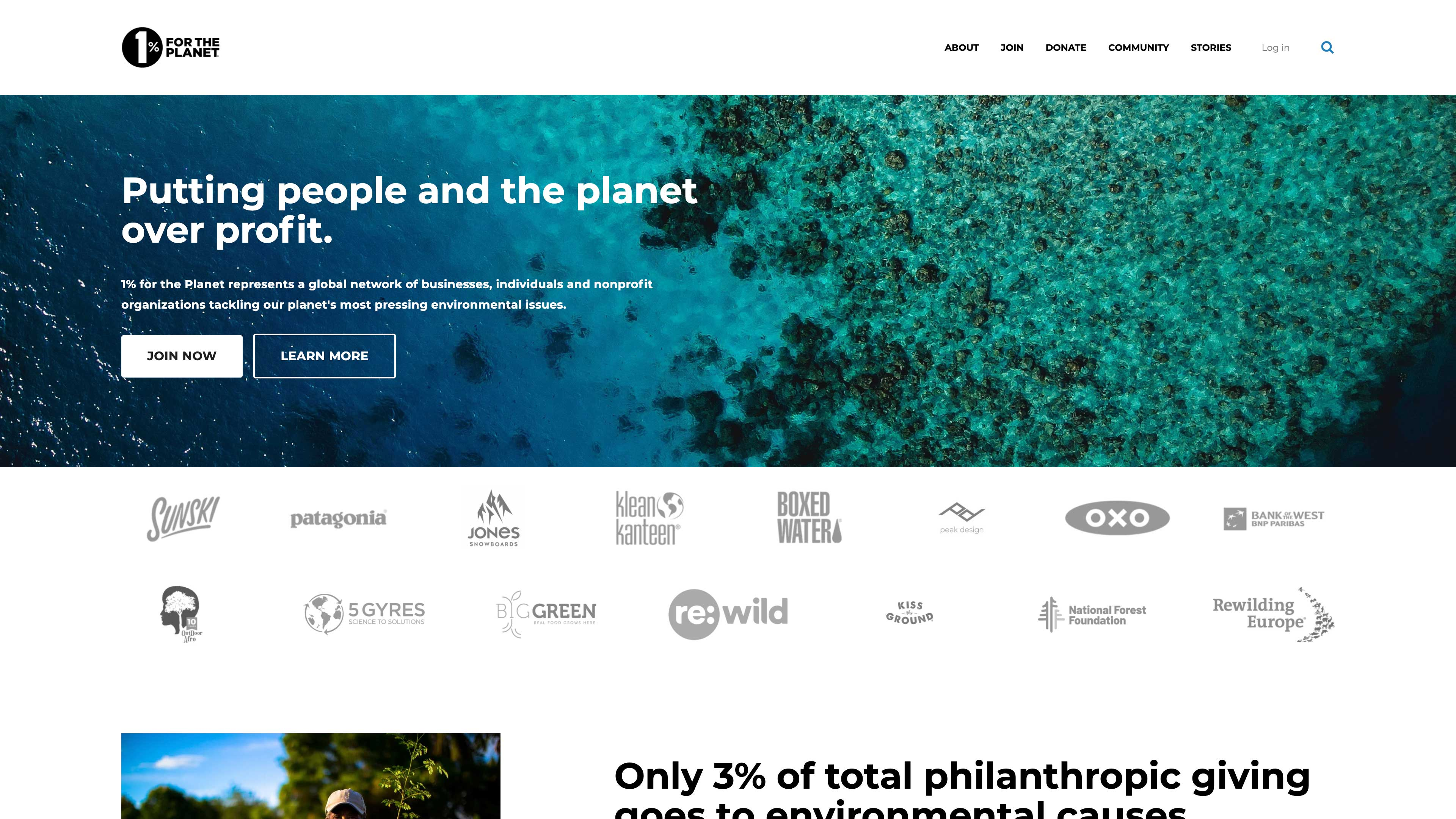 One Percent for the Planet website.