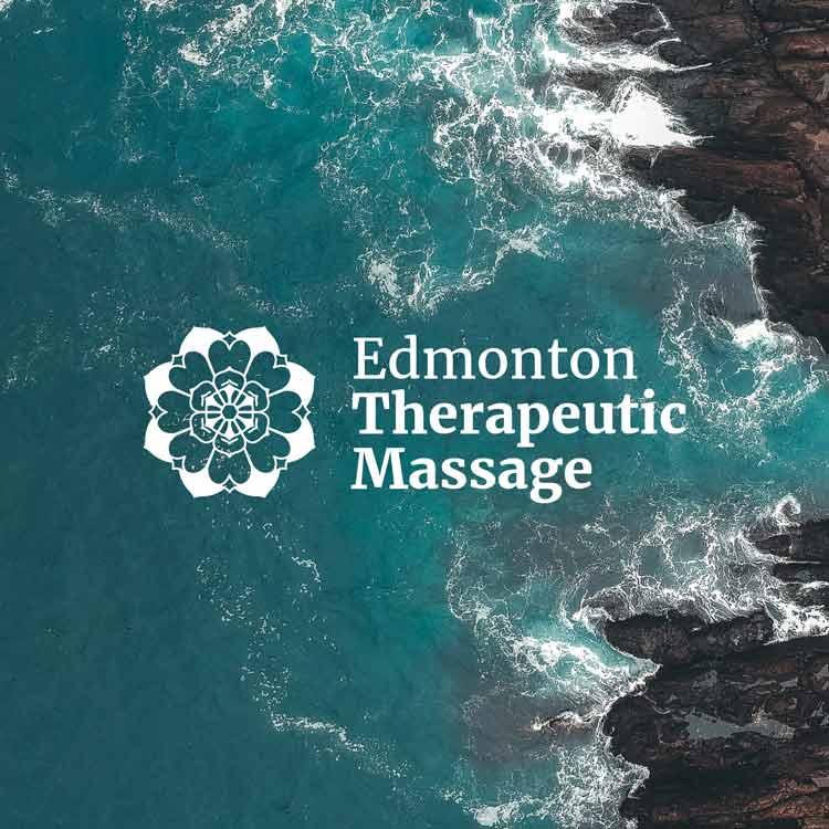 Modern mandala inspired logo design for Edmonton Therapeutic Massage.