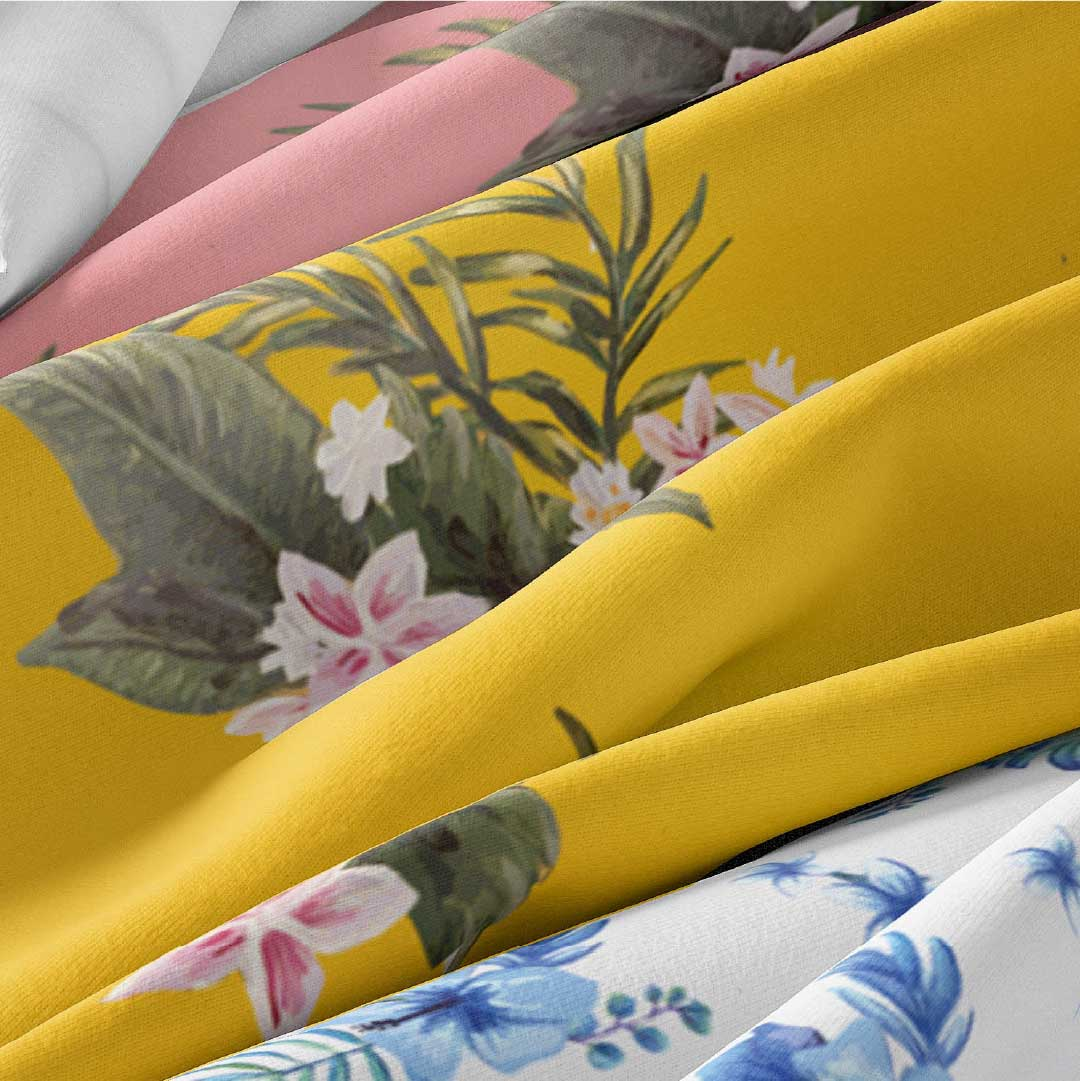 Modern tropical ocean inspired shell shaped logo design for fashion brand Bawah Beachwear.