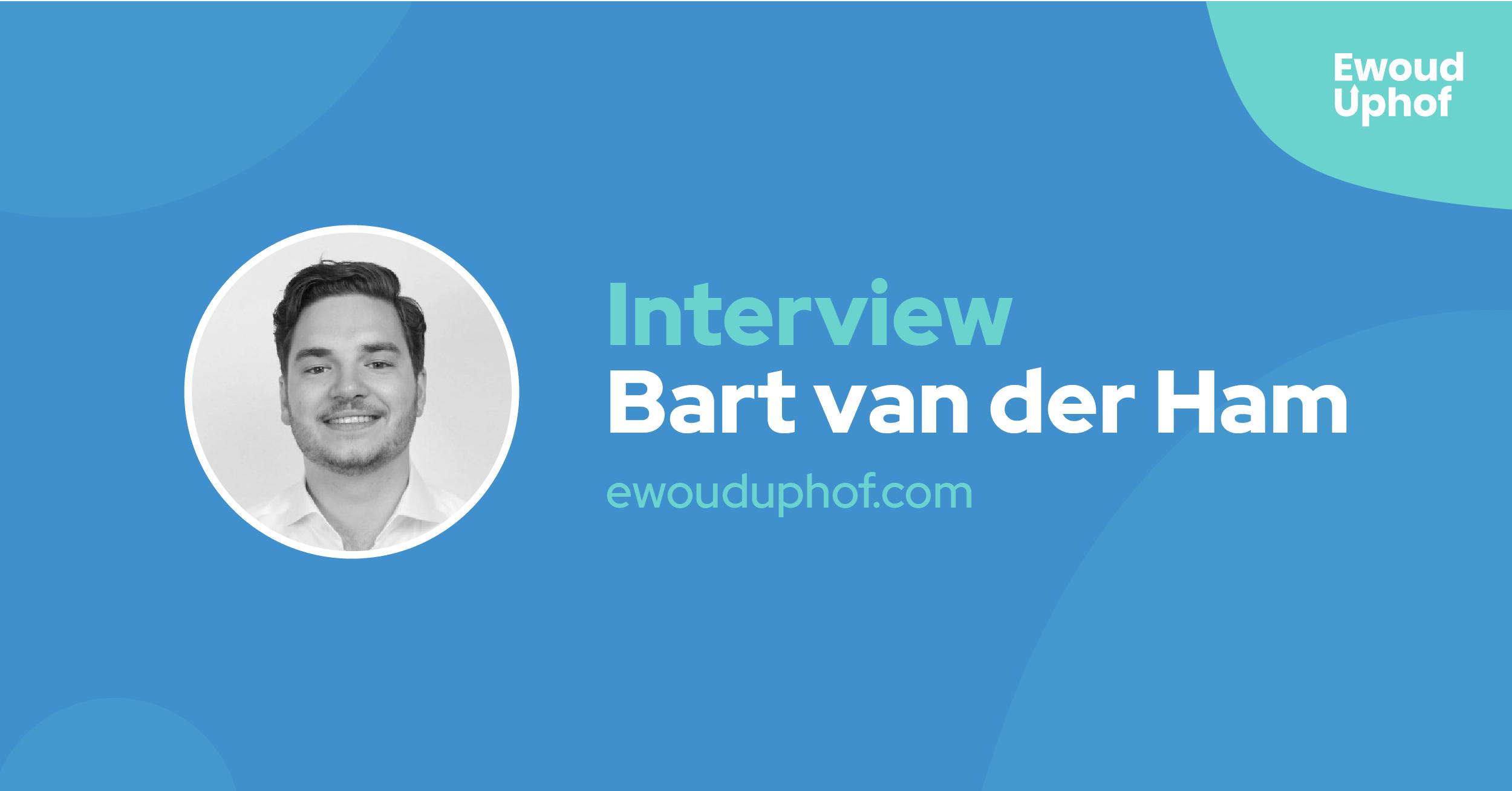 Interview met growth hacker Bart van der Ham