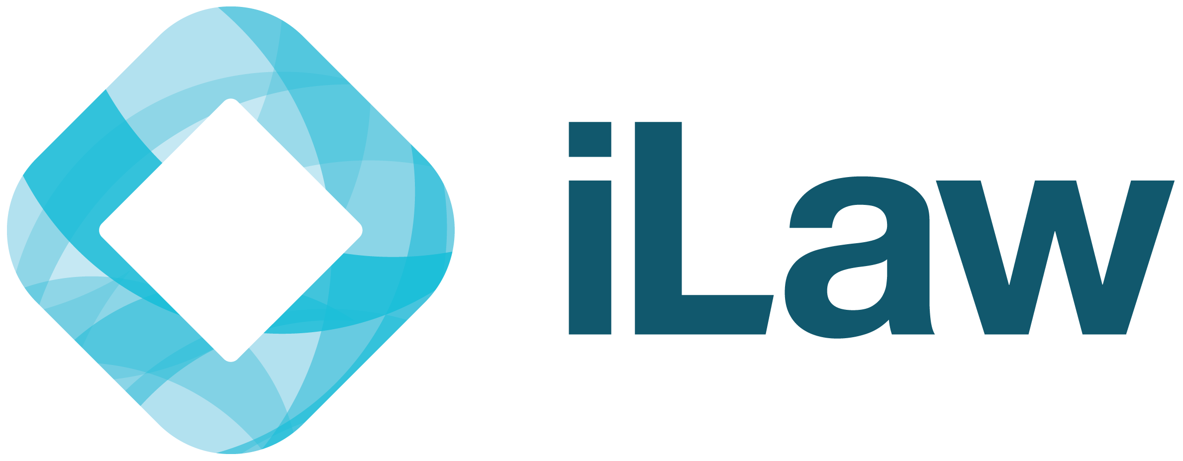 ILaw Logo blue text, transparent background