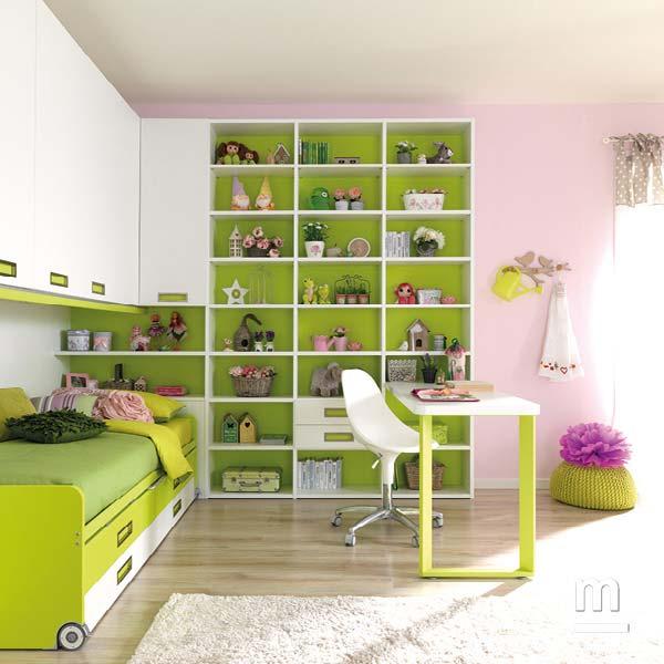 Libreria Outline con schiene laccate verde cedro e struttura in frassino bianco larghezza 60 cm