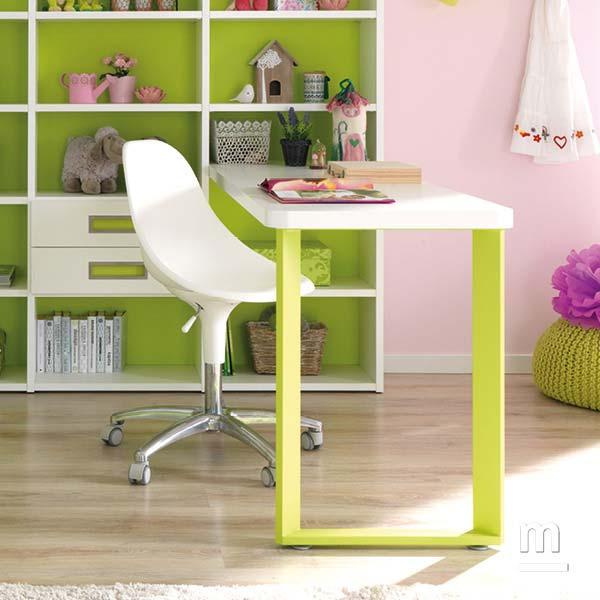 Supporto per scrivania Form in metallo laccato verde cedro