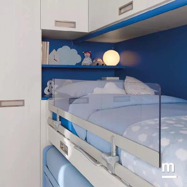 Protezione Light per letto superiore Space in plastica trasparente
