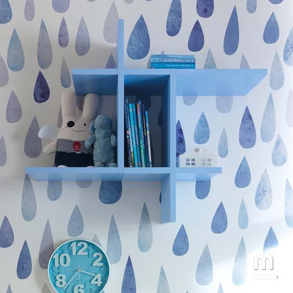 Libreria geometrica moderna sospesa a parete Flexa laccata cristallo