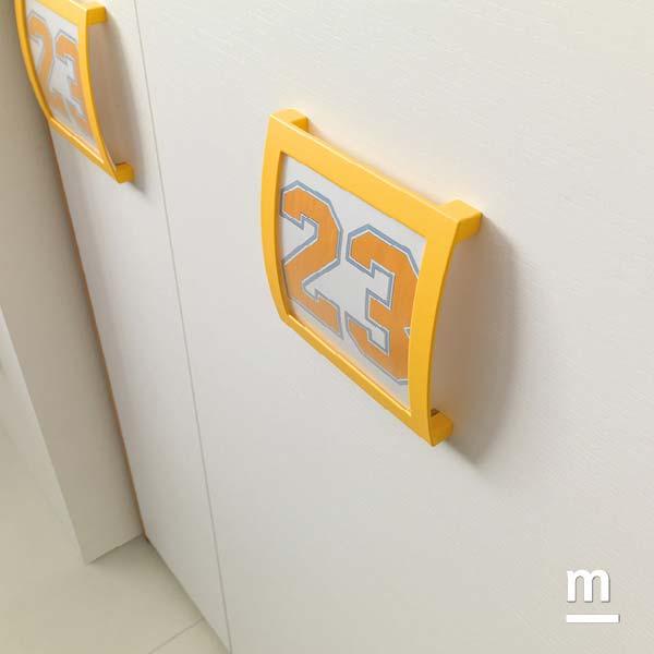 Maniglie dell'armadio Photo Frame con cornice gialla