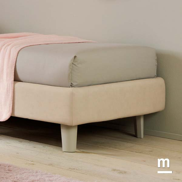 Supporti del letto Comfort con Medium ring King laccati color corda