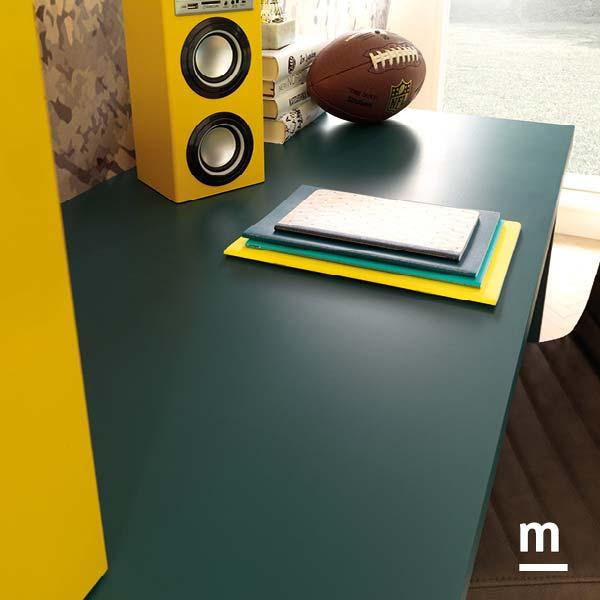 Piano della scrivania laccato pavone spesso 40 mm