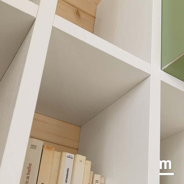 dettaglio ripiani libreria outline spessore 25 in essenza betulla