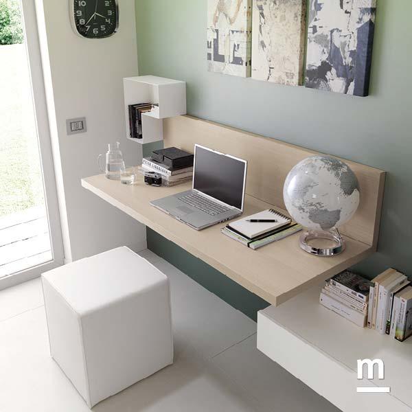 scrivania sospesa per l'angolo studio o la postazione da lavoro in soggiorno