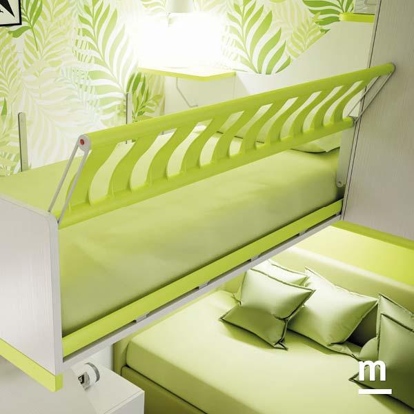 Protezione del letto superiore Iron in metallo laccato verde cedro