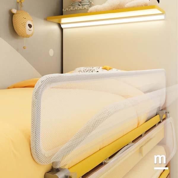 Sponde di protezione per il letto superiore Web Split con tubolare in alluminio e rivestimento in tessuto sfoderabile e lavabile