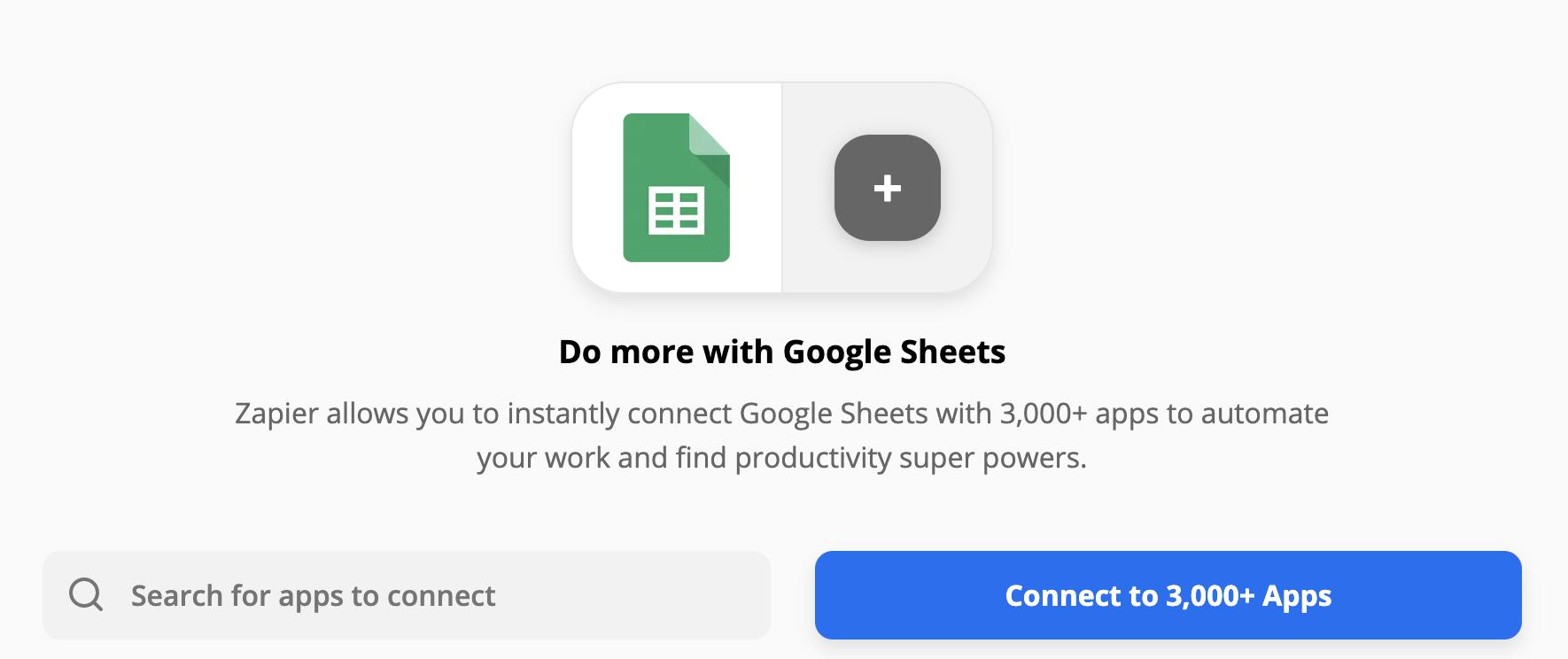 Google Sheets et ses milliers d'intégrations