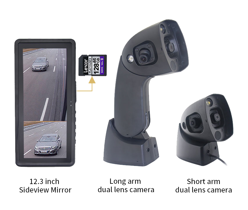 NEW Wing Mirror Replacement  Monitors with Dual Cameras