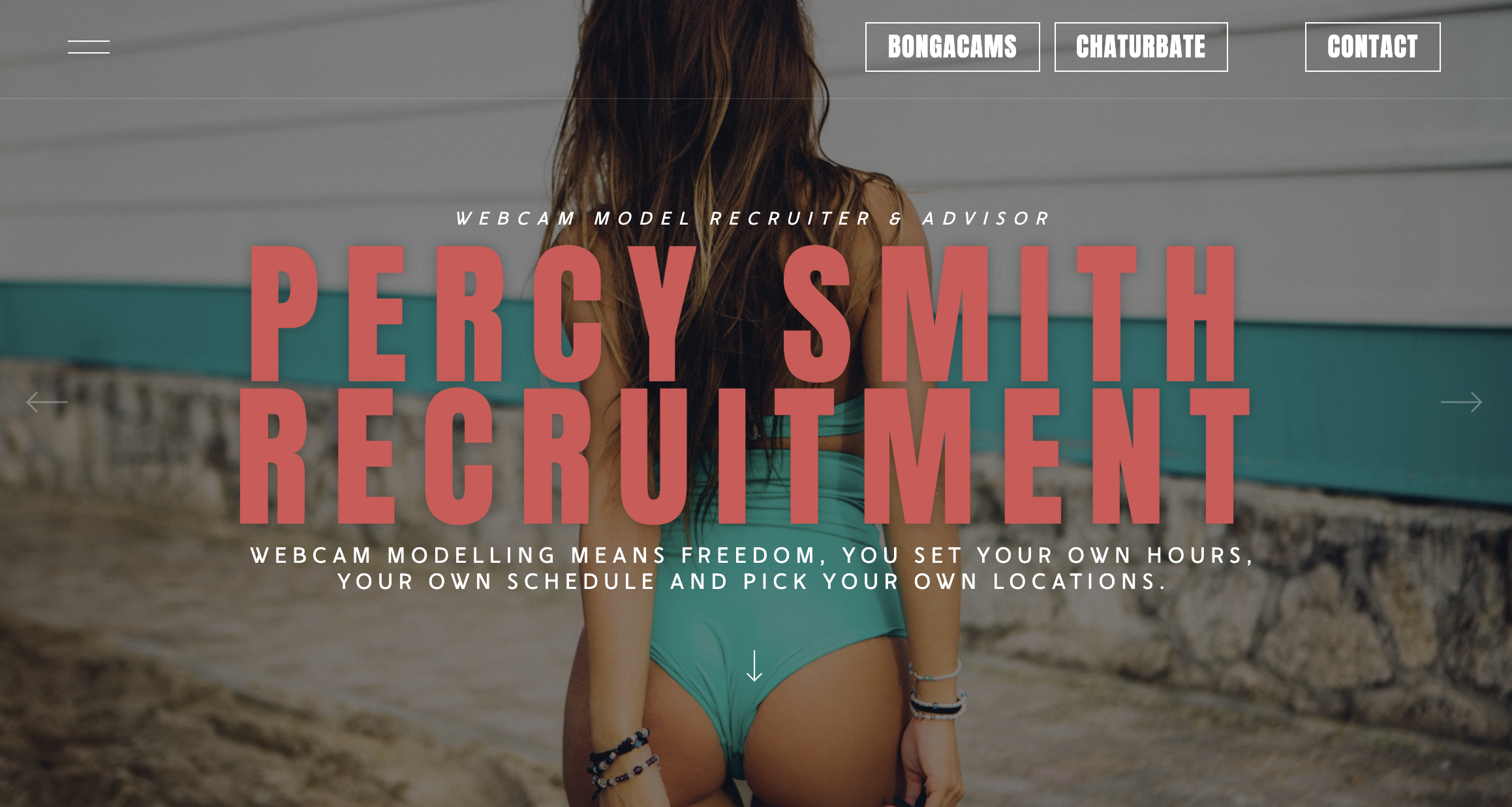 An image of the web and logo design for Percy Smith Recruitment